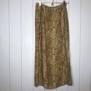 Vintage On Trend Leopard Midi Skirt!